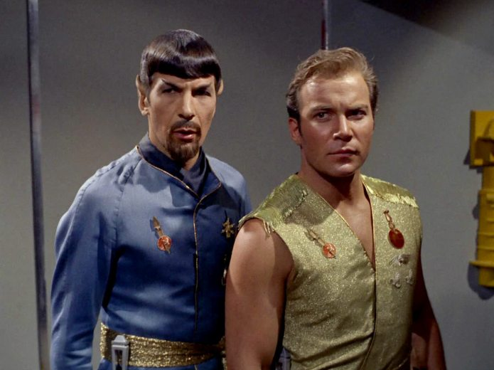 Kirk and Spock in Mirror, Mirror